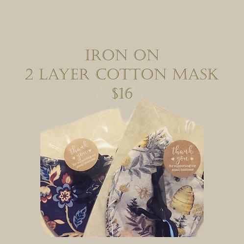 Iron on - 2 Layer Cloth Mask