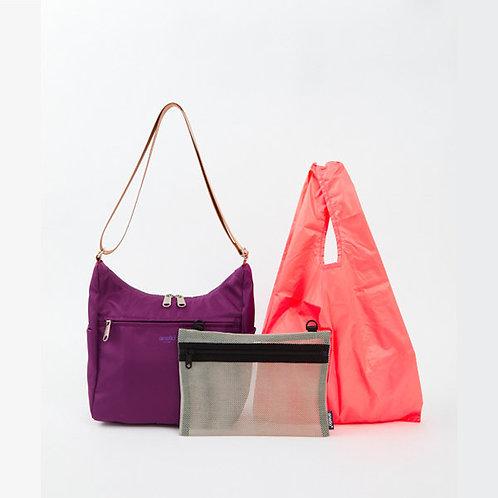 Anello - OWEN系列 輕便側揹袋 內附環保袋及收納袋 ATT0592(紫色)