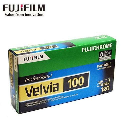 Fujifilm Fujichrome Velvia 100 RVP 120 Color Film