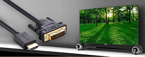 UGREEN Gold Plated Full 1080 P HDMI 19-pin Male to DVI (24+1) Cable Lead 1-8M