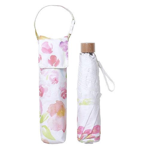 estaa - Large Mini 折傘 - 花束 粉紅/花束 レッド