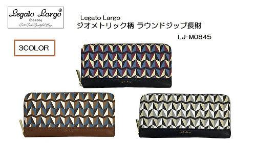 [Legato Largo]幾何圖案復古長錢包 LJ-M0845