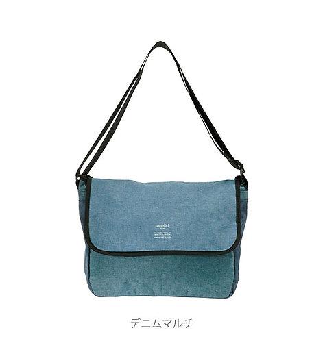 [Anello]10分格輕巧布質翻篕式斜肩袋書包 AT-N0662