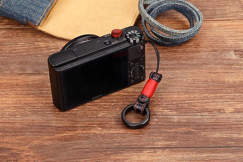 Camera King Design -Natural Wood Finger Ring+Real Leather Camera Hand Wrist Sony