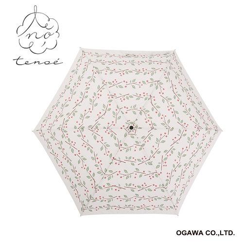 Line Drops - Tenoe - 防UV 撥水 日傘 折傘 - 紅莓小路/木の実の足跡