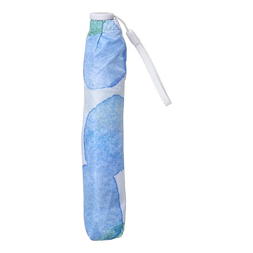 estaa - 90g 超輕量折傘 - 水彩圓點 天藍/水彩ドット スカイブルー