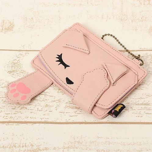 [Poohchan]閉眼貓噗醬卡片包 – 粉紅
