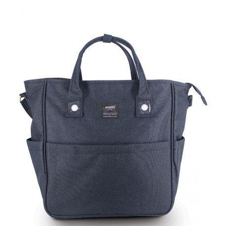 anello - 三用帆布手提袋 AT-N0442(深藍色)