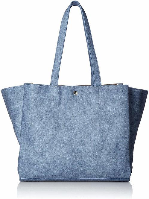 Legato Largo - 皮革 A4 size 手提袋 LU-M0801(牛仔淺藍)