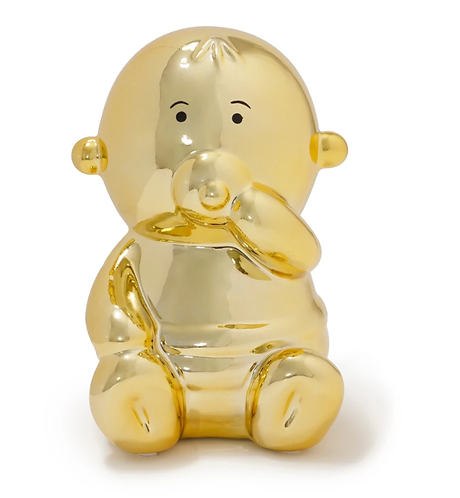 MADE BY HUMANS - Balloon Money Bank Baby - gold