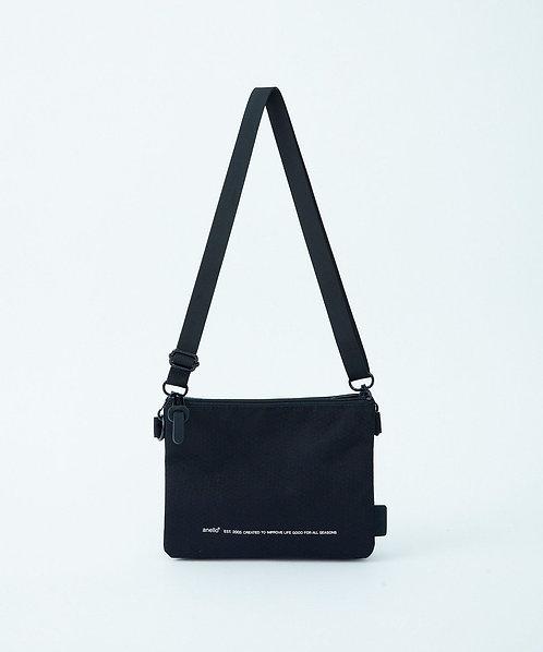 Anello - 超輕防潑水 迷你側揹/斜揹袋 輕便 多分格 男女中性 ATB3841(黑色)