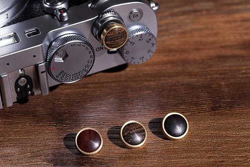 Camera King Design - Natural Wood+Copper CONVEX Release Shutter Button for Leica