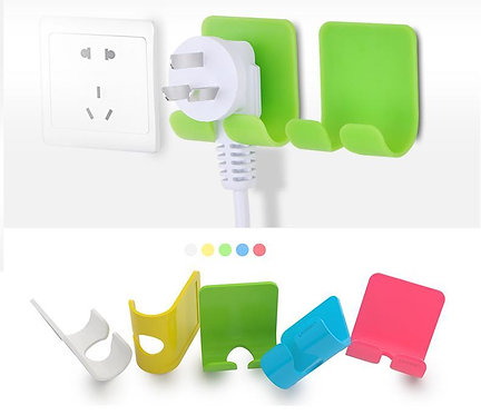 2 x UGREEN Adhesive Power Cord Socket Cable Holder Wall Hanger USE 3M Sticker