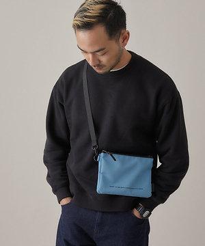 Anello - 超輕防潑水 迷你側揹/斜揹袋 輕便 多分格 男女中性 ATB3841(藍色)