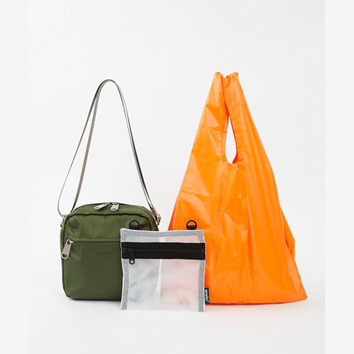 Anello - OWEN系列 迷你側揹袋 內附環保袋及收納袋 ATT0594(深綠色)