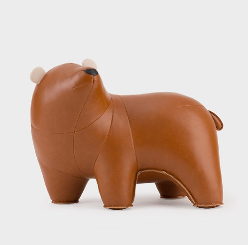 ZUNY Bear Bero Bookend - Tan + Wheat