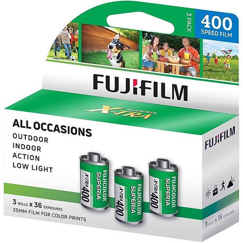 Fujifilm FUJICOLOR SUPERIA X-TRA 400 36exp Color Film (3 Rolls/Pack)