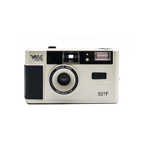 Vibe Photo 501F 35mm Reusable Film Camera (Champagne Silver)