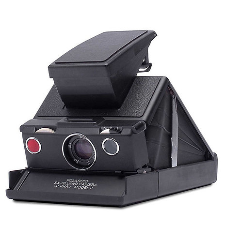 Polaroid SX‑70 Alpha1 Instant Camera Black (Official Refurbished)