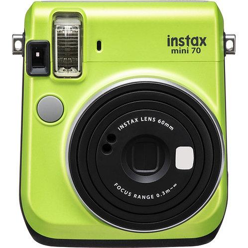 Fujifilm - Instax mini 70 INSTANT CAMERA BUNDLE - Kiwi Green (Free Film)