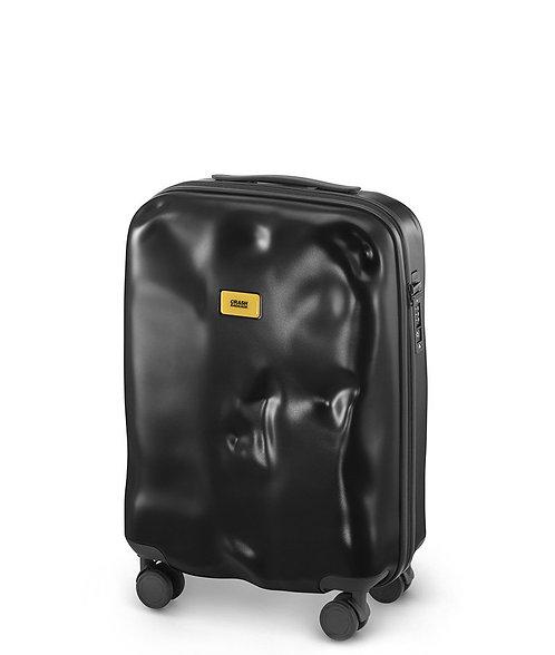 CRASH BAGGAGE -意大利 Icon Metal Collection 破壞風格 4輪 金屬硬殼行李箱- Black 黑色 20吋,25吋,29吋