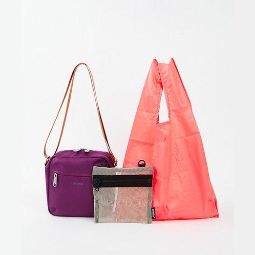 Anello - OWEN系列 迷你側揹袋 內附環保袋及收納袋 ATT0594(紫色