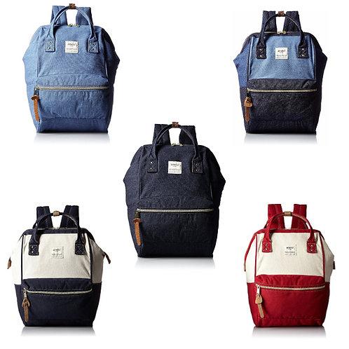 Anello - ANELLO 官方經典便攜牛仔背包 AT-B0935B- 牛仔深藍 ,牛仔藍,帆布深藍,帆布紅,淺藍/深藍色
