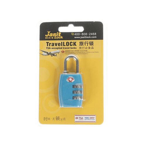 Jasit Lock 柔性鋼纜繩行李箱海關鎖 TSA719 - 藍色