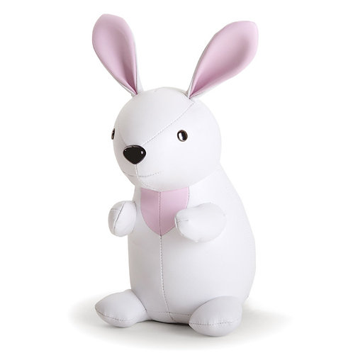 ZUNY - Classic-Rabbit Bookend(White)手縫皮革兔子造型擺飾書檔(白色)