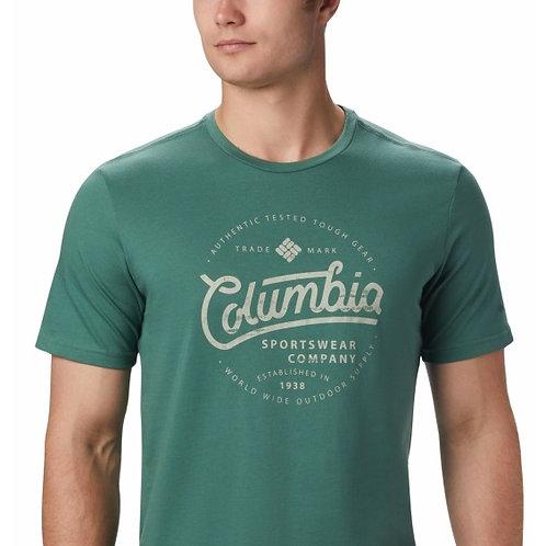 MEN'S M PATH LAKE GRAPHIC Tee T-Shirt - THYME GREEN ROUND BOUND