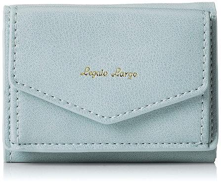 Legato Largo - 皮革 三折 迷你錢包 短銀包 LJ-C2451(灰藍色)