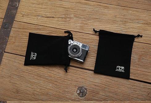 AKIBA Black Nubuck Leather Dust Bag Pouch (M) 14 x 19cm