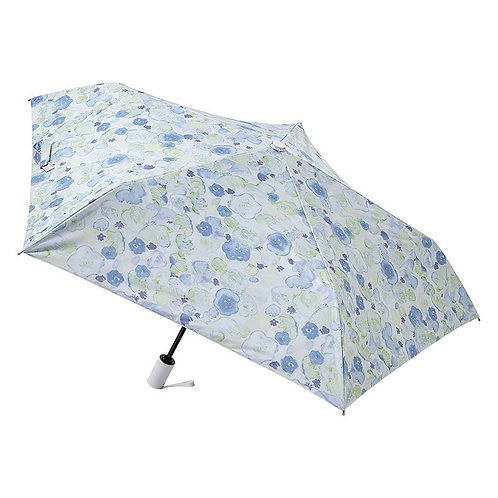 estaa - 200g 超輕量 自動開關 防UV 遮光遮熱 摺遮 日傘 – 花球 (藍色)