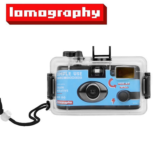 Lomography Simple Use Reloadable Camera & Underwater Case (Color 400)
