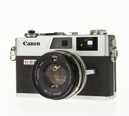 Canon Canonet QL19 G-III 35mm Rangefinder Film Camera