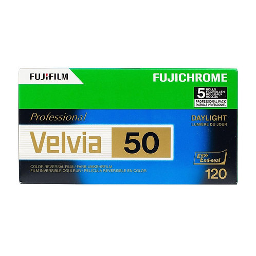Fujifilm Fujichrome Professional Velvia 50 RVP 120 Film