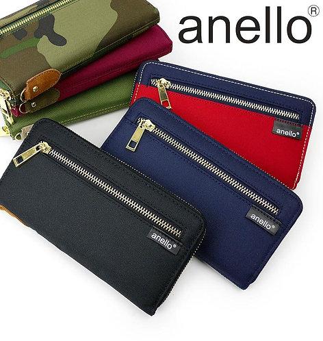 [Anello]簡約帆布多間隔實用型長錢包 AT-B0199