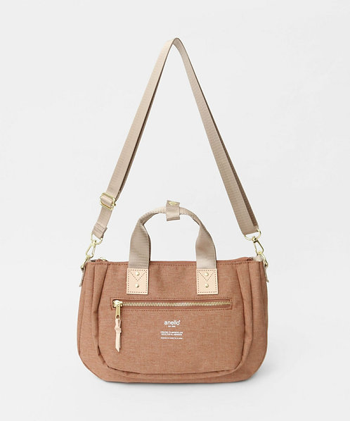 Anello - 雙用式迷你手挽側揹袋 AT-C3163OBE -米橙色