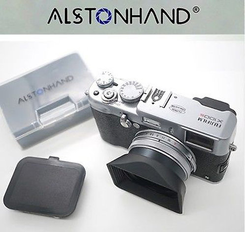 ALSTONHAND - 49mm Metal Lens Hood & Cap for FujiFilm X100X X100S X100T X100F X70