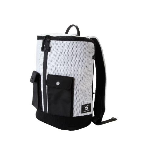 Frequent Flyer - 大口全開拉鏈多分格旅行背包 (L) - 白色