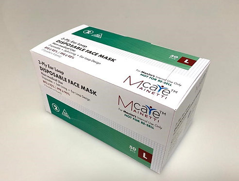 MainettiCare 原箱50盒口罩 ASTM Level One Disposable Mask (只限美心員工優惠)