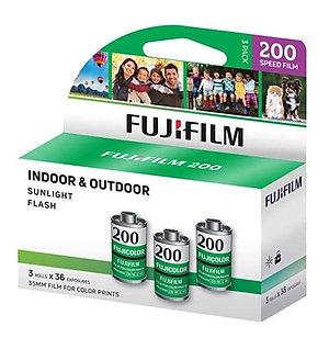 Fujifilm Fujicolor 200 36exp 35mm Color Negative Film (3 Rolls)