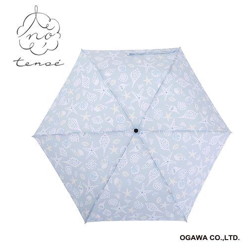 Line Drops - Tenoe - 防UV 撥水 日傘 折傘 - 海濱回憶/砂浜の想い出