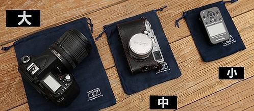 Sea-Island Filament Microsuede Camera Pouch Dust Bag (M) 14 x 19cm