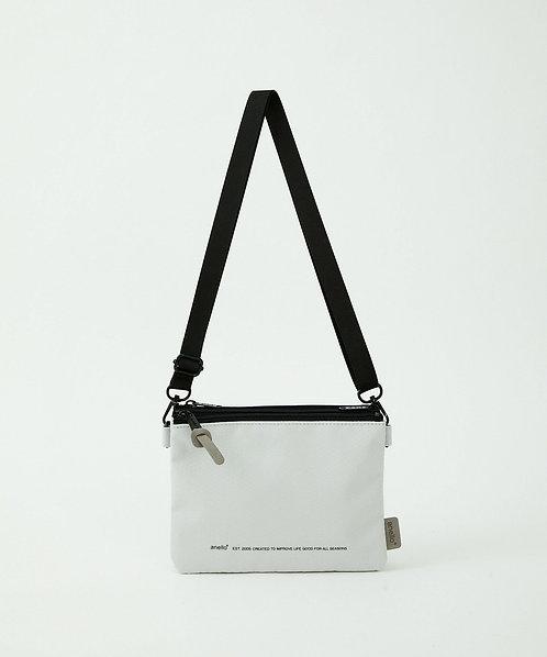 Anello - 超輕防潑水 迷你側揹/斜揹袋 輕便 多分格 男女中性 ATB3841(白色)