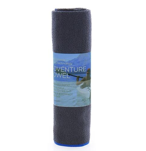 吸水快乾毛巾 Aquis Adventure Towel- BLACK WITH BLUE TRIM