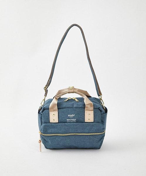 Anello - 可拆帶輕巧休閒雙用式手挽側揹袋 AT-C3167BK -深藍色