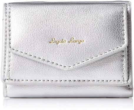 Legato Largo - 皮革 三折 迷你錢包 短銀包 LJ-C2451(銀色)