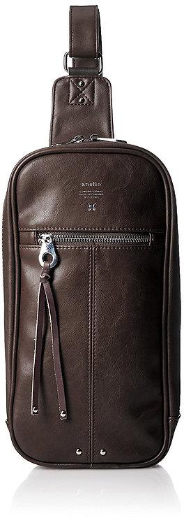 Anello - 時尚 單肩 斜背包 AU-B1515(深啡色)