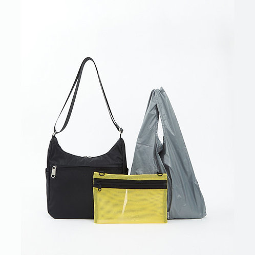 Anello - OWEN系列 輕便側揹袋 內附環保袋及收納袋 ATT0592(黑色)